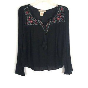Flying Tomato Womens Shirt Size Large Black